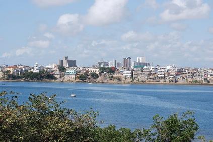 Blick auf Mombasa