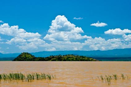 Landschaft des Victoria Sees in Kenia