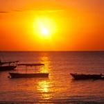Sonnenuntergang am Diana Beach